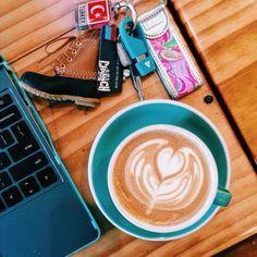 pic from my instagram -- @alyssaelayne : cappuccino an preppy key chains! #coffee #preppy