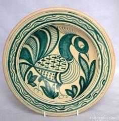 Antigüedades: PLATO DE CERAMICA LA MENORA TALAVERA * 25CM DIAMETRO - Foto 4 - 66150362