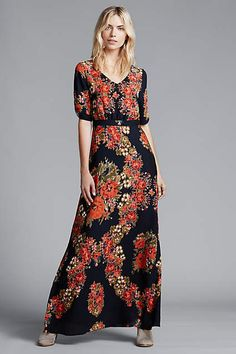 Wreathed Maxi Dress - #anthrofave