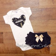 Pittsburgh Penguins Girls Outfit by BebeSucreOnline on Etsy $30