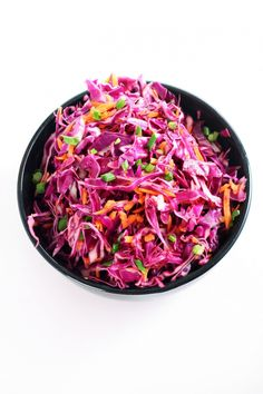 Red Cabbage Slaw with an Asian Dressing Recipe