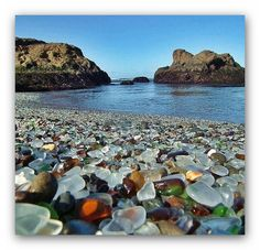 Beautiful Glass Beach in California