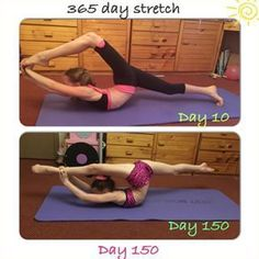 I used to find this stretch so difficult - I'm so happy. More 150 day progress… #PoleDancingExercises #danceforbeginners