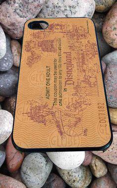 Adult Disneyland Ticket Disney for iPhone 4/4s, iPhone 5/5S/5C/6, Samsung S3/S4/S5 Unique Case *99*