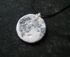 Realistic Moon pendant by gemsgemsOnEtsy on Etsy, $20.00 - I want one!!
