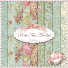 """Paris Flea Market  9 FQ Set - Glass by 3 Sisters for Moda Fabrics: Paris Flea Market by 3 Sisters for Moda Fabrics.  100% cotton.  This fat quarter set contains 9 fat quarters, each measuring approximately 18"""" x 21""""."""