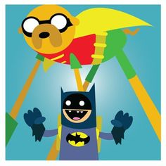 GEEK ART / Adventure Time in Gotham City 4 poster set!! on the redditgifts Marketplace