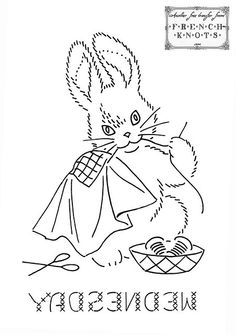 Sew on Wednesday Bunny Days of the Week