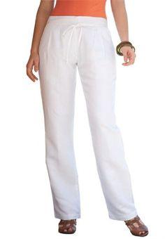 Jessica London Plus Size Linen Pleated Pants $16.01