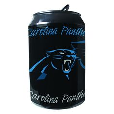 The NFL Portable Party Can Fridge is the perfect fridge to bring to any tailgate or outdoor game day celebration. This thermo-electric portable fridge holds up to eight 12 oz. cans and features the colors and logo of your favorite pro football team. Thermoelectric Cooling, Portable Fridge, Nfl Carolina Panthers, Pro Football Teams, Gifts For Sports Fans, Cool Technology, Tailgating, New Product, Canning