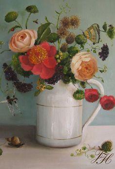 A Wild Bunch ~ artist Janet Hill  #art #painting