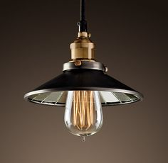 restoration hardware reflector filament pendant
