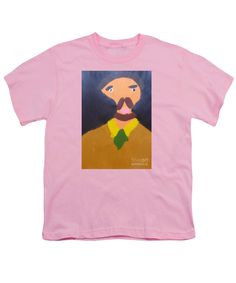 Patrick Francis Pink Designer Youth T-Shirt featuring the painting Portrait Of Eugene Boch 2015 - After Vincent Van Gogh by Patrick Francis