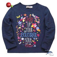 Camiseta niña BOBOLI manga larga estampada mariposas