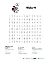 Print Disney Word Search Puzzles