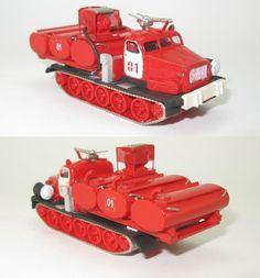 Feuerlöschfahrzeug (Basis  AT-T) Feuerwehr DDR - 1:87 HO