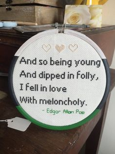 Hey, I found this really awesome Etsy listing at https://www.etsy.com/listing/288426201/edgar-allen-poe-cross-stitch-quote