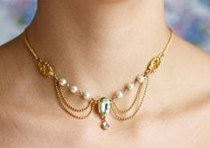 Dazzle  Exotic Princess Necklace Choker by Meanglean on Etsy, $18.00