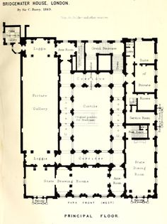 Floorplan of the Bridgewater House, London