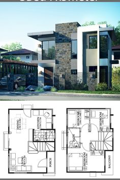 Small house design - Small Home design plan with 3 Bedrooms – Small house design 2 Storey House Design, Bungalow House Design, House Front Design, Small House Design, Modern House Design, Duplex House Plans, House Layout Plans, Bedroom House Plans, Modern House Plans