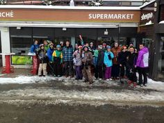 The Ski Bonjour crew on our first group ski in the huge Espace Killy ski area!