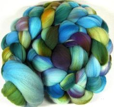 Agate Merino Wool Top for Spinning and Felting by yarnwench, $19.13