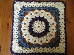 """Ravelry: Drop in the Bucket 12"""" Square pattern by Janie Herrin Crochet-a-long block 7"""
