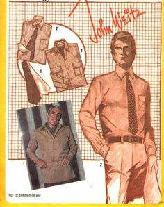 Simplicity , Printed Pattern , John Weitz , Sewing #9792 , 1980 , Men's Shirt or Shirt-Jacket , Ascot and Tie , Size 40 by Simplicity Pattern Co. Inc. http://www.amazon.com/dp/B0020MMWKC/ref=cm_sw_r_pi_dp_5g8Jtb04J6K9N52P