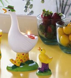 Spring Emotions Mother Goose and Chick Tealight Holder with cute polka dot rain boots! #candle #partylite #decorate  just $11 while supplies last