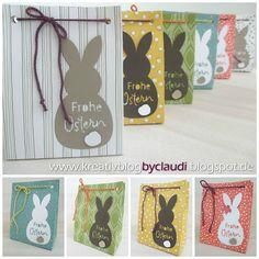 Für die Kids gibt es zu Ostern ein paar bunte Hasentüten mit dem SAB Papier Wildblumenwiese und anderen bunten Designerpapieren aus meinem ...