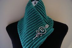 FREE SHIPPING Caribbean Blue Crochet Knit Cowl by CraftCharmer, $20.00 Cowl Scarf, Knit Cowl, Shawl, Wire Jewelry, Unique Jewelry, Neck Warmer, Markers, Caribbean, Free Shipping