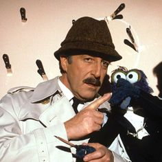 Even Gonzo tried his luck at knife throwing. Is he wearing a tuxedo? Tammy Love, Brideshead Revisited, Wearing A Tuxedo, Cultural Artifact, Falling In Love With Him, Jim Henson, The Good Old Days, Movie Tv, Musicals
