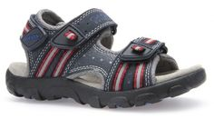 a3df22c03b75d Geox Strada Navy Red Sandals - Geox Kids Shoes - Little Wanderers Red  Sandals, Strada