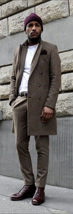 Manteau Homme Blazer L'automne Gris De Travail Marron Pas Cher