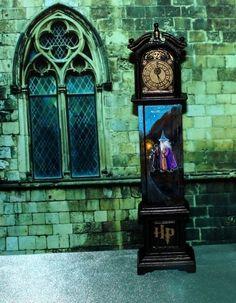 Dollhouse 1:12 HandPainted Grandfather's Clock Harry Potter OOAK  by N.Naumenko
