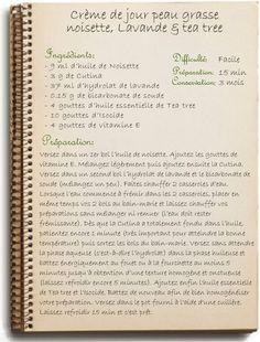 Faire sa crème de jour peau grasse: noisette, tea tree et lavande