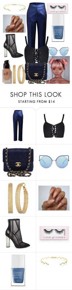 """""""Untitled #2"""" by causualtiesofaccessory ❤ liked on Polyvore featuring Ginger & Smart, Chanel, Matthew Williamson, GUESS, Steve Madden, Boohoo, The Hand & Foot Spa, Sabine Getty and e.l.f."""