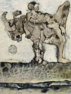 Jan Lebenstein, Ohne Titel (Reiterin)