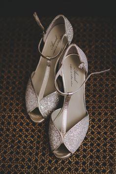 glitter bridal shoes