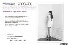 #EtienneJeanson #bridal #Victoire #lace #dress #Collection #broceliande #AuFéminin #Magazine #wedding #mariage