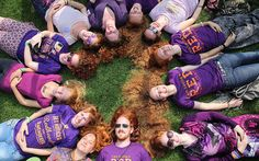 People with red hair from all over the world gather on 'Roodharigendag' (Redhead Day) in Breda, The Netherlands Picture: ARIE KIEVIT/EPA