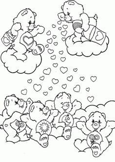 coloring page Care Bears on Kids-n-Fun. Coloring pages of Care Bears on Kids-n-Fun. More than coloring pages. At Kids-n-Fun you will always find the nicest coloring pages first! Bear Coloring Pages, Coloring Pages For Girls, Cartoon Coloring Pages, Printable Coloring Pages, Coloring For Kids, Coloring Sheets, Free Coloring, Coloring Books, Care Bears