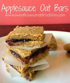 Chewy Applesauce Oat Bars -- Gluten-free, Dairy Free, Nut Free, Vegan, Egg Free, Recipe, Snack