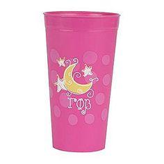Gamma Phi Beta Plastic Sorority Mascot Cup: $6.00. Holds 26oz. Great Greek Gift.