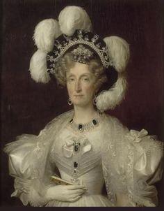 Maria Amalia d'Orleans ritratta con la parure di Maria Antonietta