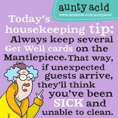 Facebook Aunty Acid | Aunty Acid's Housekeeping Tips