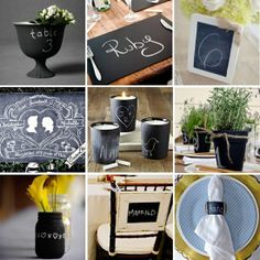Chalkboard Paint Ideas For Weddings. - Click for More...