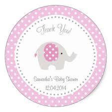 Shop Cute Elephant Baby Shower Sticker Blue created by melanileestyle.