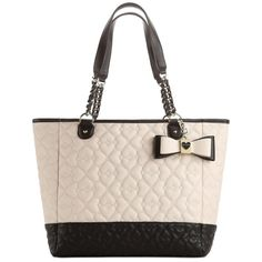 Betsey Johnson Color Block Quilted Love Tote
