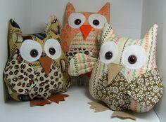 Owls made with SU fabric!  So cute, Princess Shirley!